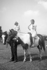 Sue, riding