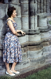 Barbara Green at Whitby Abbey