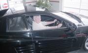 Greta in a Ferrari