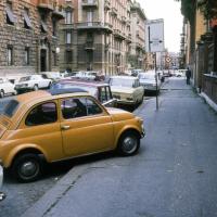 Fiar 500, parked Italian-style