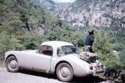 Bill's MGA at the Gorges du Tarn