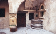 Courtyard and well