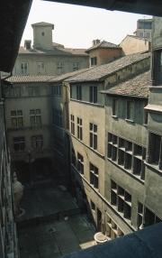 Courtyard in shadow