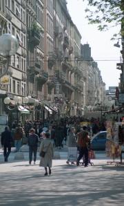Busy shopping street