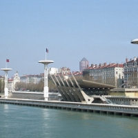 Public swimming pool by the Rhone
