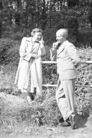 Katie and Bernard, posing
