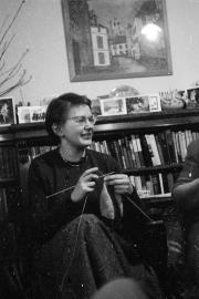 Sue knitting