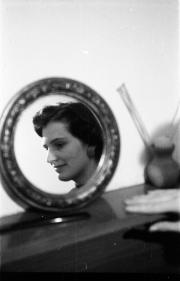 Barbara in the mirror