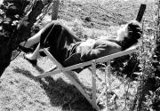 Barbara in a deck chair