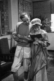 John and Greta at a Masque Theatre rehearsal