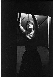 Greta backstage at the Masque Theatre
