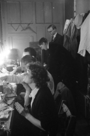 Greta in the dressing room at the Masque Theatre