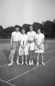 John on a tennis court