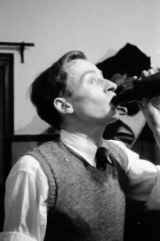 Me, drinking