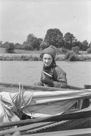 Sheila in boat