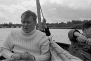 Derek & Doug rowing