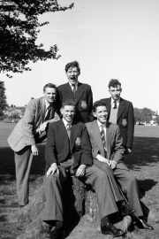 Group including Wal, centre rear