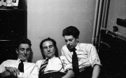 Dick Dyball, Ken Ansell & Norman Huxford in my room