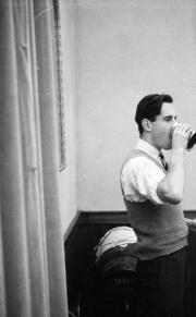 Derek Butters drinking