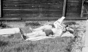 Ken and Pete sunbathing