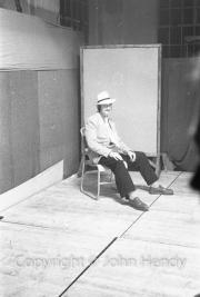 Staff Cimelli (seated)