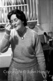 Min (Rosemary Harvey) and cream