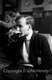 Me drinking (in RCS blazer)