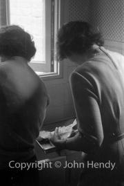 Mary Watson and Min (Rosemary Harvey) at Twick