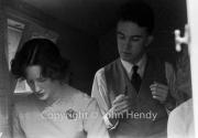 Min (Rosemary Harvey) and Jerry Lawrence