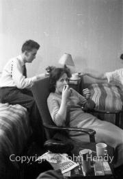 Jerry Lawrence and Min (Rosemary Harvey)