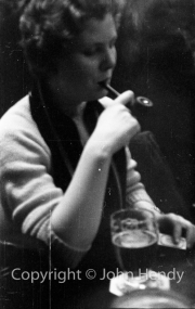 Mary Watson with pipe