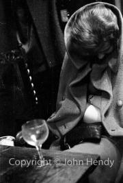 Mary Watson dozing