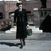 Rosemary Harvey in uniform