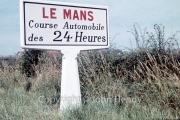 Le Mans road sign