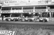 Triumphs - #25 Triumph TR 3S (Peter Jopp and Dickie Stoop), #26 Triumph TR 3S (Peter Bolton and Michael Rotschild), #27 Triumph TR3 S (Ninian Sanderson and Claude Dubois)