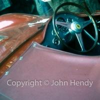Scrutineering - Ferrari 250 Test Rossa cockpit