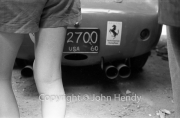 Scrutineering - Ferrari 250 Testa Rossa exhausts. And legs.