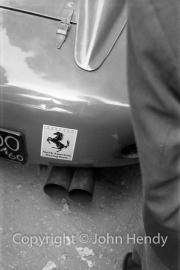 Scrutineering - Ferrari 250 Testa Rossa exhausts.