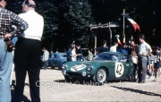 Scrutineering - Reg Parnell and #42 Lotus Elite (Mk 14)/ Coventry Climax (David Buxton and Bill Allen)