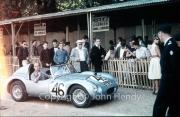 "Scrutineering - #46 Austin Healey Sprite ""Sebring"" (John Dalton and John K. Colgate Jr.)"