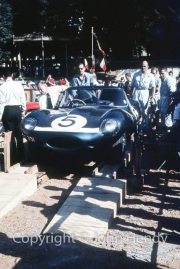 Scrutineering - #5 Ecurie Escosse Jaguar D-Type (Ron Flockhart and Bruce Halford)