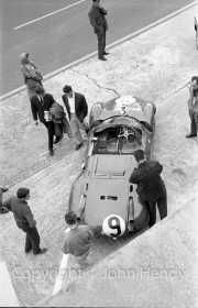 #9 Maserati Tipo 63 (Ludovico Scarfiotti and Nino Vaccarella) in the pits