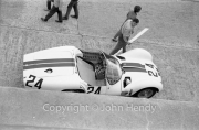 #24 Maserati Tipo 60 (Briggs Cunningham and Bill Kimberly) in the pits