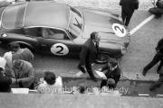 #2 Aston Martin DB4 GT Zagato (Jack Fairman and Bernard Consten) in the pits