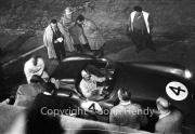 Aston Martin pit stop at night #4 Aston Martin DBR1/300 - Roy Salvadori
