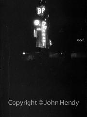 BP tower at night