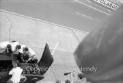 Triumph pit stop #25 Triumph TR4S (Marcel Becquart and Michael Rotschild), bonnet open