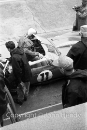 Ferrari pit stop - Willy Mairesse, driver of #11 Ferrari 250 TRI/61