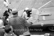 Ferrari pit stop - Phil Hill, driver of #10 Ferrari 250 TRI/61