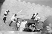 Triumph pit stop #25 Triumph TR4S (Marcel Becquart and Michael Rotschild), driver change